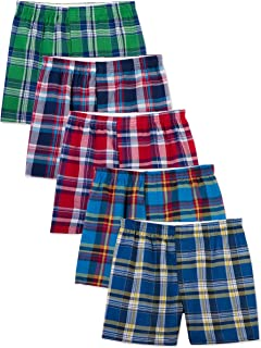 Men's Woven Tartan and Plaid Boxer Multipack