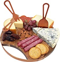 Magnetic Cheeseboard with Serving Utensils by Choosy Chef – Charcuterie Board. Includes a Guide to Best Wine & Cheese Pair...
