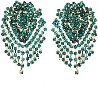 MOOCHI Crystal Beads Bling Fashion Bohemia Hoop Dangle Earrings