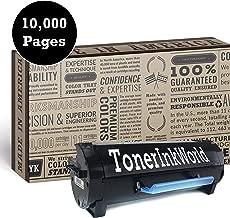 60F1H00 High Yield 10,000 Page Remanufactured Black Toner Cartridge for MX310dn / MX410de / MX510de / MX511de / MX511dhe / MX511dte / MX610de / MX611de / MX611dhe / MX611dte
