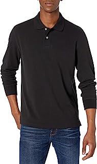 Men's Regular-fit Long-Sleeve Pique Polo