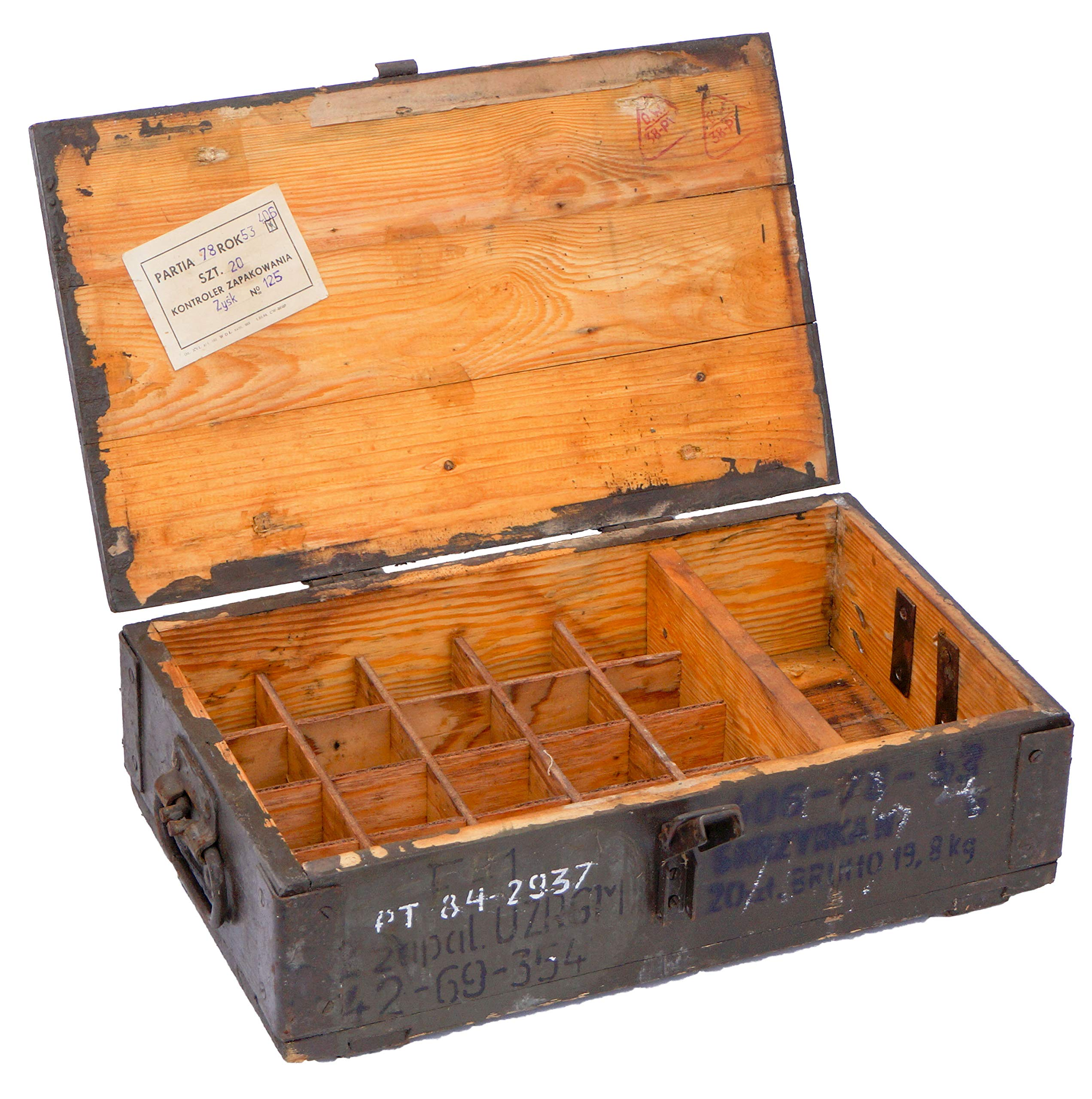 Pequeña caja de munición RG-42, grosor de pared de más de 1 cm ...