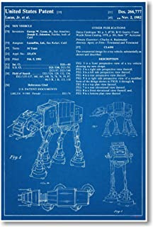 PosterEnvy Star Wars AT-AT Patent Invention Blueprint Poster, 12 by 18 Inch