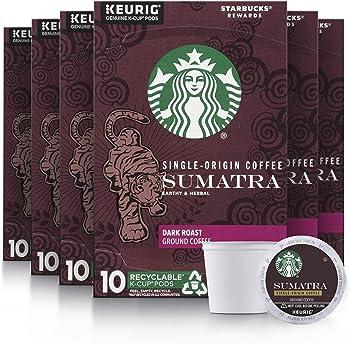 60-Count Starbucks Sumatra Dark Roast Single Cup Coffee