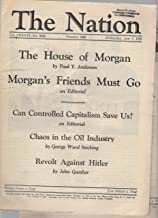 The Nation Magazine, four issues from 1933: May 24, June 7, August 23, December 13