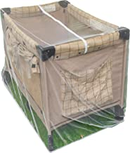 Pack n Play Mosquito Net with Zippers - Fits Baby Crib, Stroller and Playpen - Universal Size Portable Durable Mesh Netting with Elastic - Complete with Storage Bag Bonus