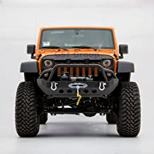 GSI Black Textured Rock Crawler Front Bumper with Winch plate for 07-18 Jeep Wrangler JK