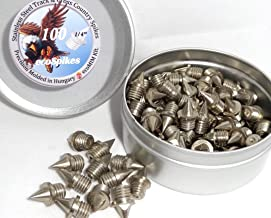 100 1/4 inch (6mm) Stainless Steel Track and Cross Country Spikes