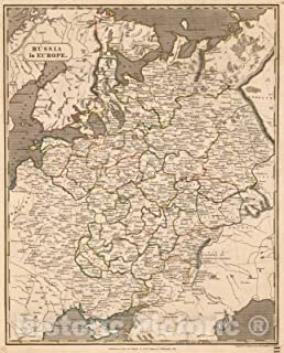 Historic Map - 1817 Russia in Europe. - Vintage Wall Art - 36in x 44in