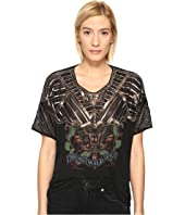 The Kooples - Sport Embroidery Viscose & Print T-Shirt