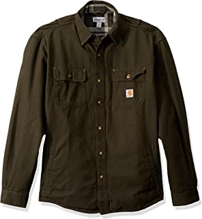 Men's Weathered Canvas Shirt Jac Snap Front