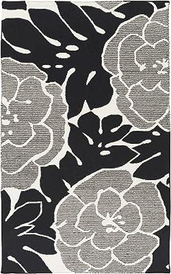 Surya Paddington Area Rug, 5' x 8', Black/Beige