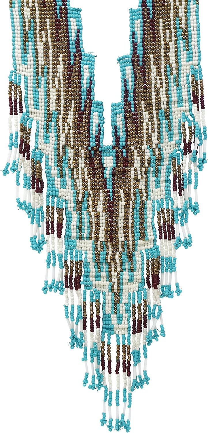 Elosee Over item handling ☆ Bohemian Style Seed Bead Fringe New product! New type Necklace Statement Bib