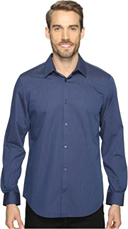 Calvin Klein Long Sleeve Infinite Cool Button Down Stripe Shirt