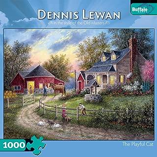 Buffalo Games Dennis Lewan The Playful Cat 1000 Pieces Jigsaw Puzzle