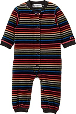 Sonia Rykiel Kids - Multi-Striped Velvet Romper (Infant)