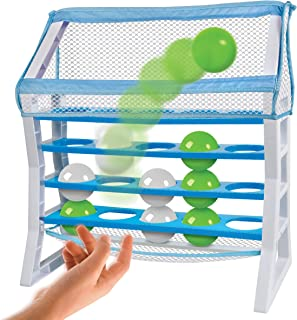 Discovery Kids 2-Player Ball Toss Play Set Indoor Outdoor Game, Perfect for Park, Beach and Backard, Stack 3 to Win, Active Playtime, Lightweight Balls Safe for Inside, Includes Twin Storage Pouches