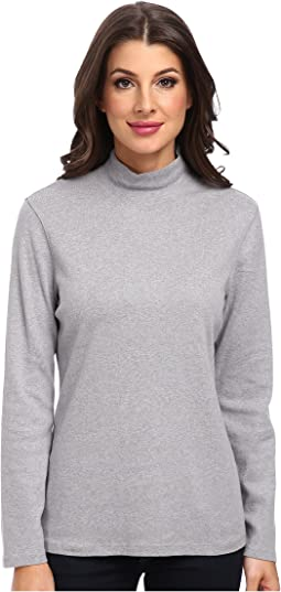 Pendleton - L/S Mock Neck Cotton Rib Tee