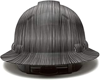Full Brim Pyramex Hard Hat, Metal Stripes Design Safety Helmet 6pt, By Acerpal