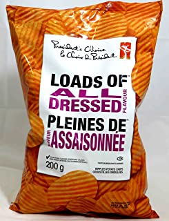 Canadian President's Choice Loads of All Dressed Flavour Chips [3 Large Bags]