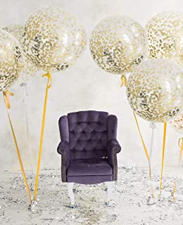 Russ Valley Jumbo Confetti Balloons for Birthday, Wedding, Baby Shower, Party - 3 Pack, 36 Inches