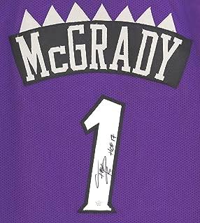 Tracy McGrady Toronto Raptors Signed Autographed Purple #1 Custom Jersey PAAS COA
