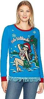 Ugly Christmas Sweater Company Junior's Light-up Corgi Pullover Christmas Sweater