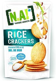 N.A! Nature Addicts - Rice Crackers Sel de Mer - Crackers Fins de Riz, Légers et Craquants - 65% de Matières Grasses en Mo...