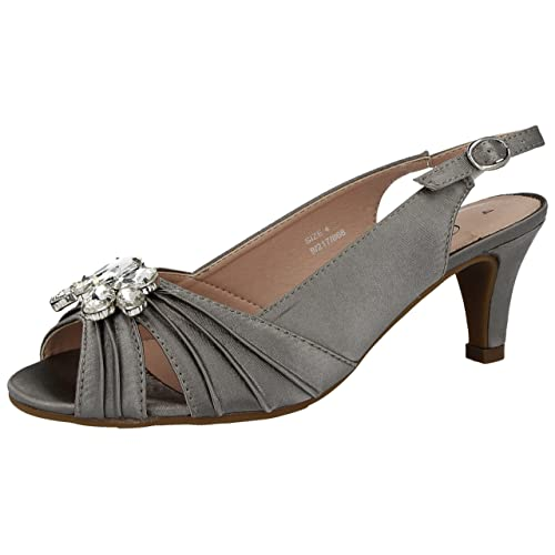 100% authentic get online cute cheap Wide Fit Silver Shoes: Amazon.co.uk