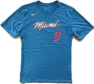 Dwyane Wade Miami Heat City Edition Vice Nights Name & Number Blue Performance T-Shirt - Men's Medium