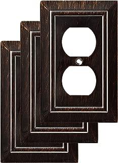 Franklin Brass W35218V-VBR-C Classic Architecture Single Duplex Wall Plate/Switch Plate/Cover (3 Pack), Venetian Bronze