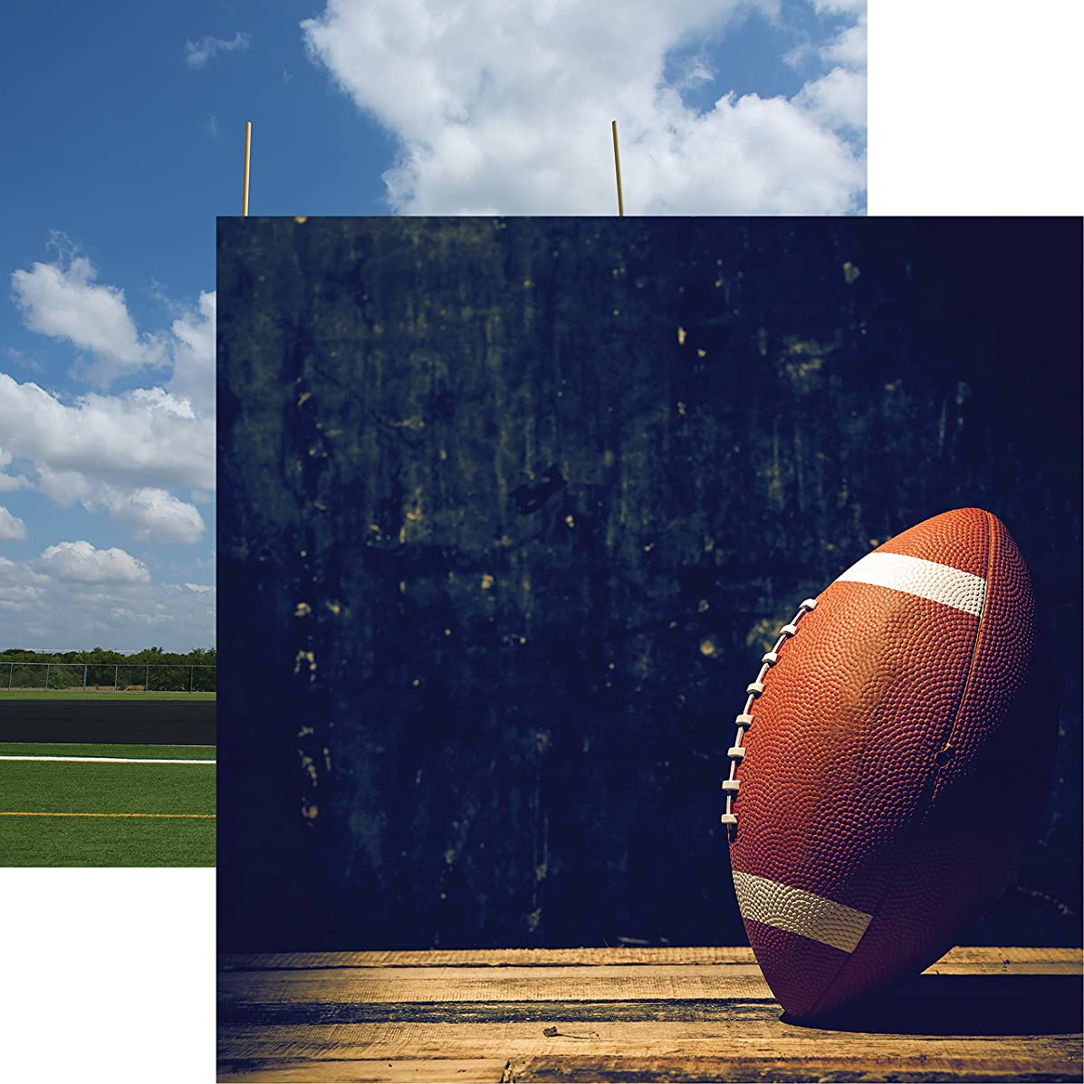Reminisce Pigskin Football 2 Double-Sided Cardstock 12