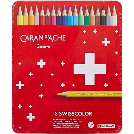 カランダッシュ スイスカラー色鉛筆 18色セット 缶入 1285-718 [日本正規品]
