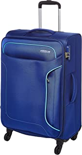 حقيبة سفر صغيرة للأمتعة من American Tourister ناعمة متوسطة الحجم بلون أزرق داكن، 68 سم