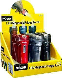 Rolson 61593 kylskåpsmagnet ficklampa, svart