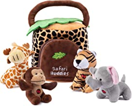Plush Creations Plush Jungle Animals Toy Set, Includes 4 Talking Soft Safari Animals A Plush Elephant Plush Monkey Plush G...