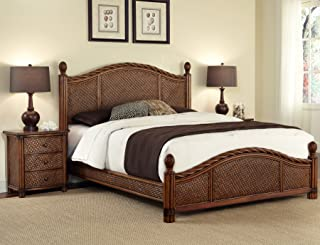 Marco Island Cinnamon Queen Bed & Night Stand by Home Styles