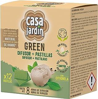 Casa Jardín Elektrische diffuser op basis van etherische oliën, met citronella, tot 8 uur levensduur, inhoud: diffuser + 1...