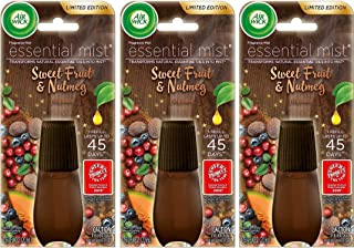 Air Wick Essential Mist Refill - Limited Edition Holiday Collection - Sweet Fruit & Nutmeg - Net Wt. 0.67 FL OZ (20 mL) Pe...