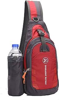 Sling Bag Backpack Outdoor Shoulder Waterproof Unbalance Crossbody Bag Chest Pack Bike Red