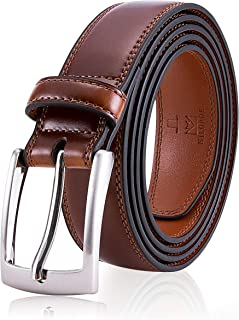 Men's Genuine Leather Dress Belt, Handmade, 100% Cow Leather, Fashion & Classic Designs for Work Business and Casual