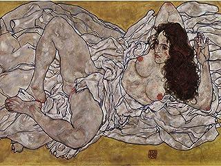 Egon Schiele Reclining Woman Extra Large Art Print Wall Mural Poster Premium XL 女性大アート壁ポスター