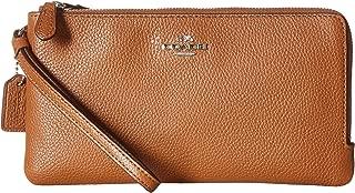 COACH Women's Polished Pebbled Double Zip Wallet