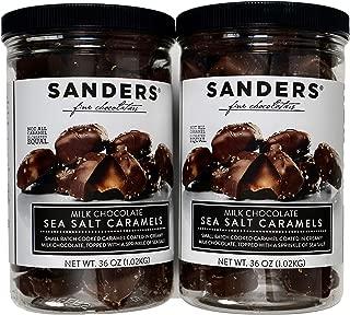 Sanders Milk Chocolate Sea Salt Caramels - 36oz Container - (SUPER VALUE 2 Pack)