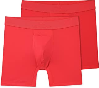 Terramar Men's 6 SilkSkins AIRCOOL Boxer Briefs with Fly (Available in 1-Pack or 2-Pack)