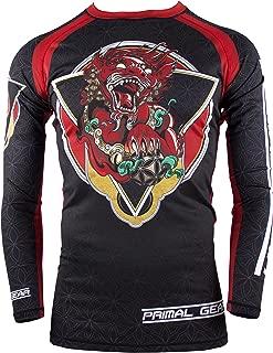Primal Gear Foo Dog BJJ Compression Base Layer Rash Guard Shirt- BJJ, Jiu Jitsu