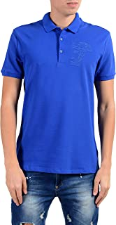 Versace Collection Men's Blue Short Sleeve Polo Shirt Size US XL IT 54