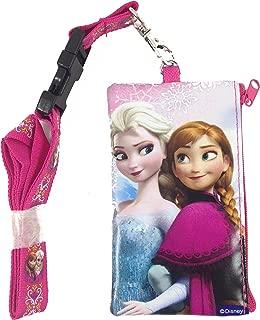 Disney Frozen Elsa and Anna KeyChain Lanyard Fastpass ID Ticket Holder Pink