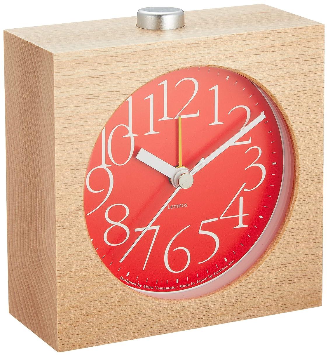 死の顎リス険しいLemnos AY alarm clock アラーム時計 レッド LA10-07 RE