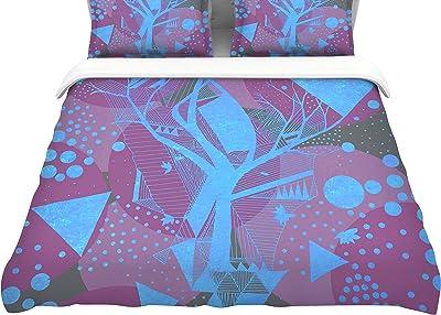 Kess InHouse Danii Pollehn Peacockcell Featherweight Queen Duvet Cover 88 x 88,